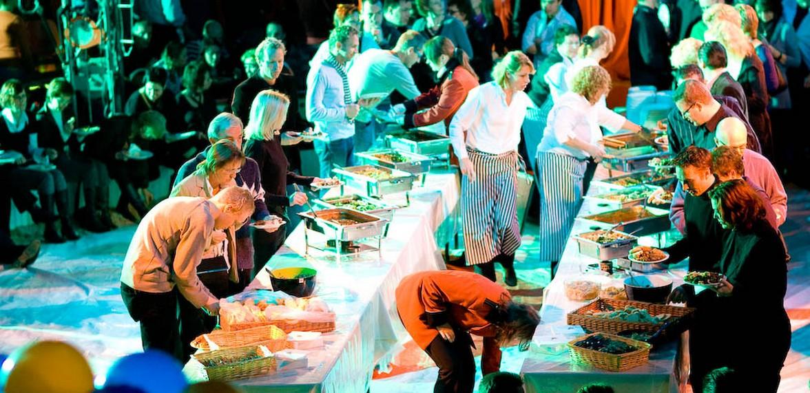 Personeelsfeest van de Rabobank in circus  te Apeldoorn